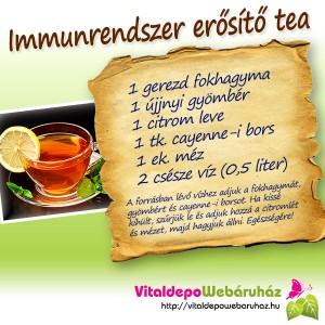Immunerositő tea